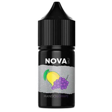 Жидкость для электронных сигарет NOVA Salt Mango Grape 25 мг 30 мл, фото 2