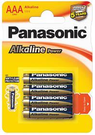 Щелочные батарейки Panasonic Alkaline Power LR03APB/4BP ААА/LR03 блистер 4 шт.