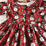Новогоднее платье на девочку 4. Размер 68 см, 74 см,  86 см, фото 2