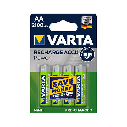 Аккумулятор Varta R2U 56706 2100 мАч блистер 4 шт, фото 2