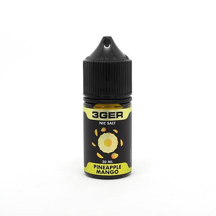Жидкость для электронных сигарет 3Ger Salt Pineapple Mango 35 мг 30 мл, фото 2