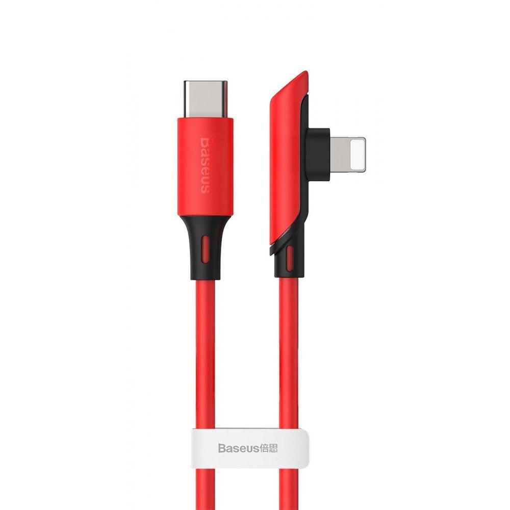 Кабель Baseus Colorful Elbow Type-C to Lightning 18W (1.2 m) червоний