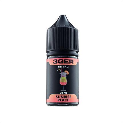 Жидкость для электронных сигарет 3Ger Salt Sunrise Peach 50 мг 30 мл, фото 2