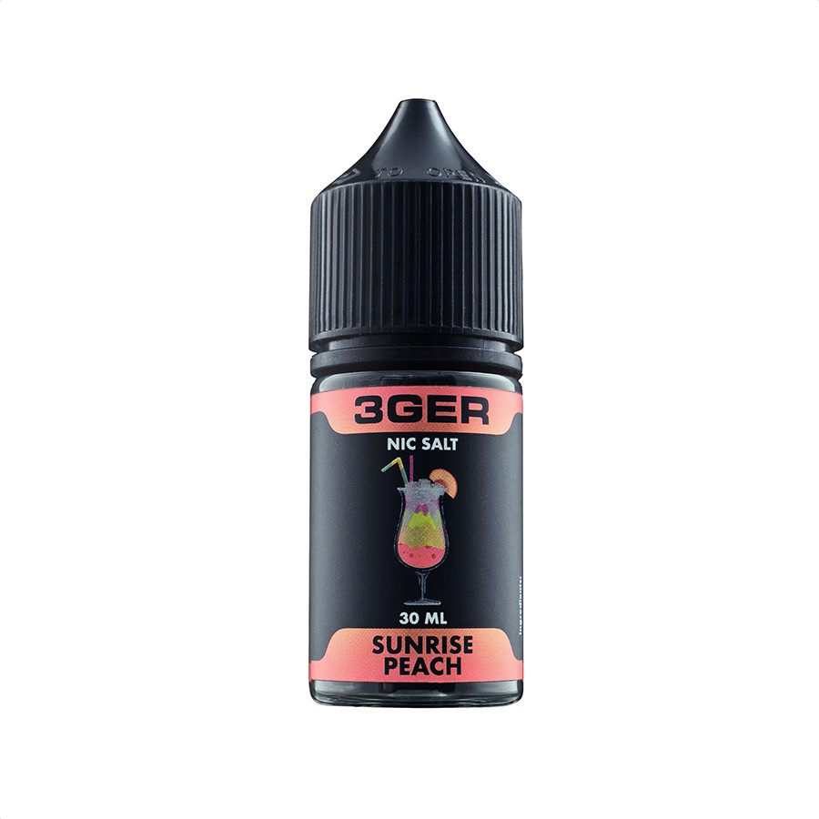 Жидкость для электронных сигарет 3Ger Salt Sunrise Peach 50 мг 30 мл