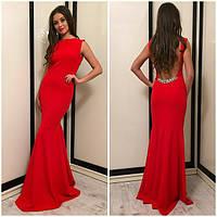 Шикарное платье в пол ткань масло АР