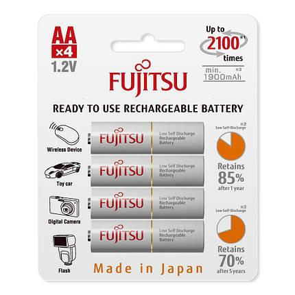 Аккумулятор Fujitsu HR-3UTCEU, AA, 2000 mAh, Ni-MH, блистер 4 шт, фото 2