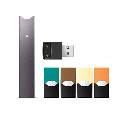 POD система Juul Starter Kit 20 мг Grey (в комплекте с 4 картриджами), фото 2
