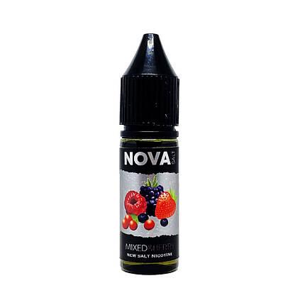 Жидкость для электронных сигарет NOVA Salt Mixed Berry 30 мг 15 мл, фото 2