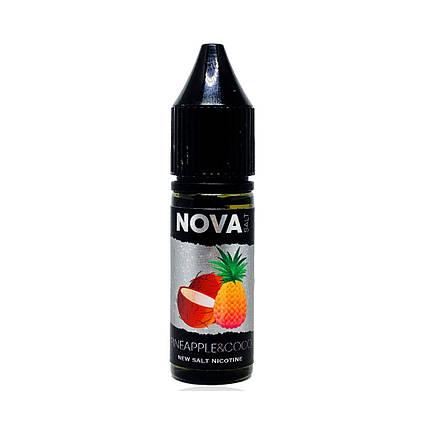 Жидкость для электронных сигарет NOVA Salt Pineapple Coco 65 мг 15 мл, фото 2