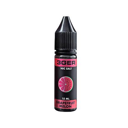 Жидкость для электронных сигарет 3Ger Salt Grapefruit Melon 25 мг 15 мл, фото 2