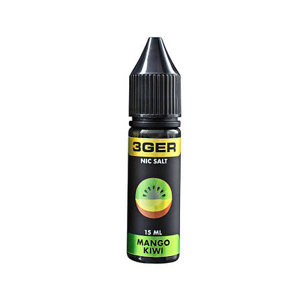 Жидкость для электронных сигарет 3Ger Salt Mango Kiwi 25 мг 15 мл, фото 2