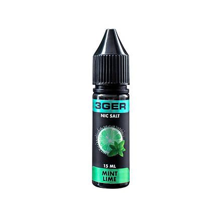 Жидкость для электронных сигарет 3Ger Salt Mint Lime 50 мг 15 мл, фото 2
