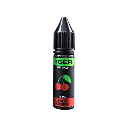 Жидкость для электронных сигарет 3Ger Salt Sour Cherry 35 мг 15 мл, фото 2