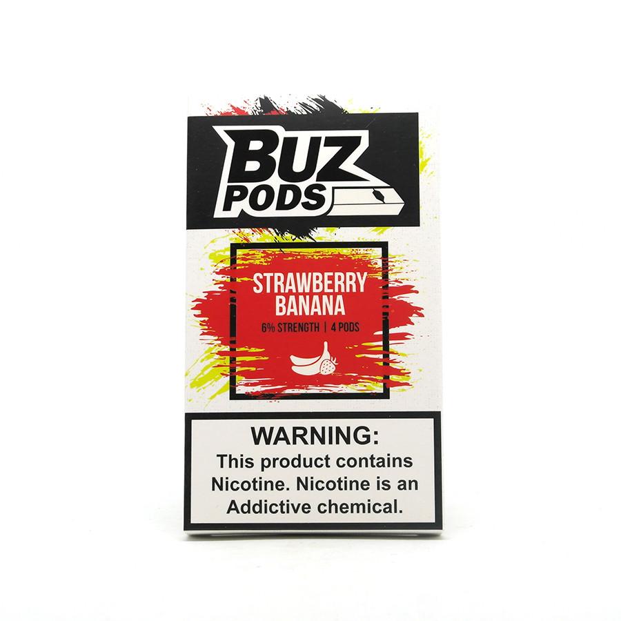 Картридж одноразовый BUZ Pods Cartridge 60 мг 1 мл 4 шт Strawberry Banana