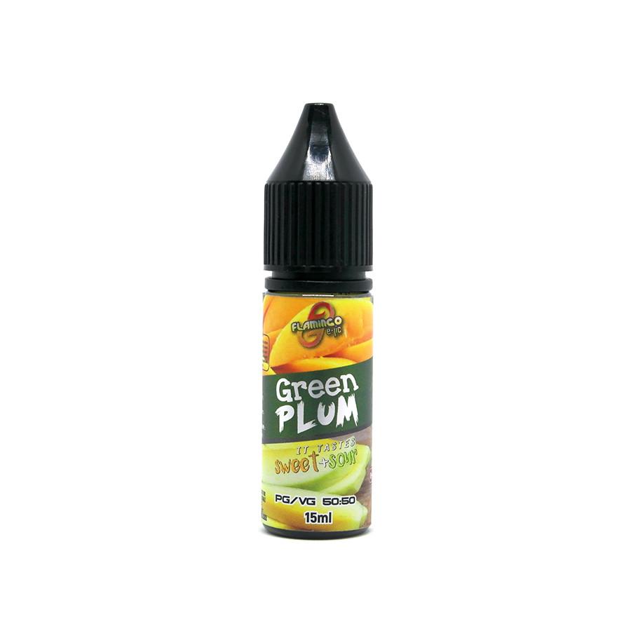 Жидкость для электронных сигарет Flamingo Salt Green Plum 50 мг 15 мл