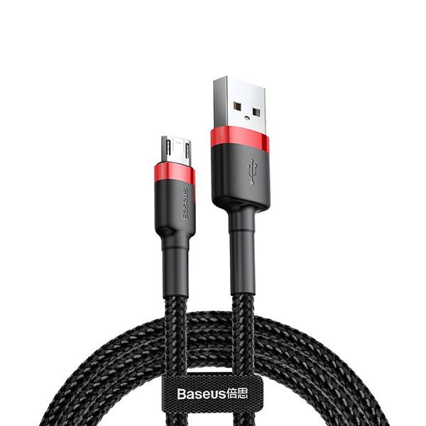 Кабель Baseus Cafule Micro USB 2.4A (1 m) red-black