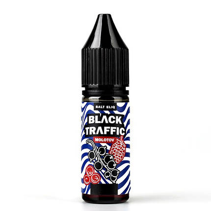 Жидкость для электронных сигарет Black Triangle Salt Black Traffic Molotov 50 мг 15 мл, фото 2
