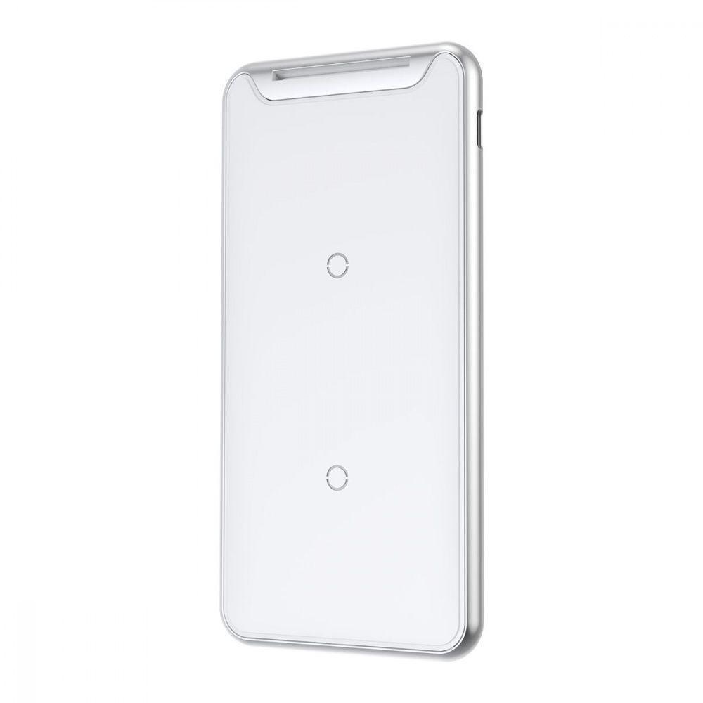 Беспроводное ЗУ Baseus Three-coil With Desktop Holder 10W + Type-C Cable white