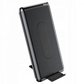 УМБ + беспроводное зарядное Baseus Dual Coil QC3.0 10000 mAh черный