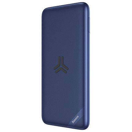 УМБ + беспроводное зарядное Baseus S10 Bracket 10000mAh 18W синий, фото 2