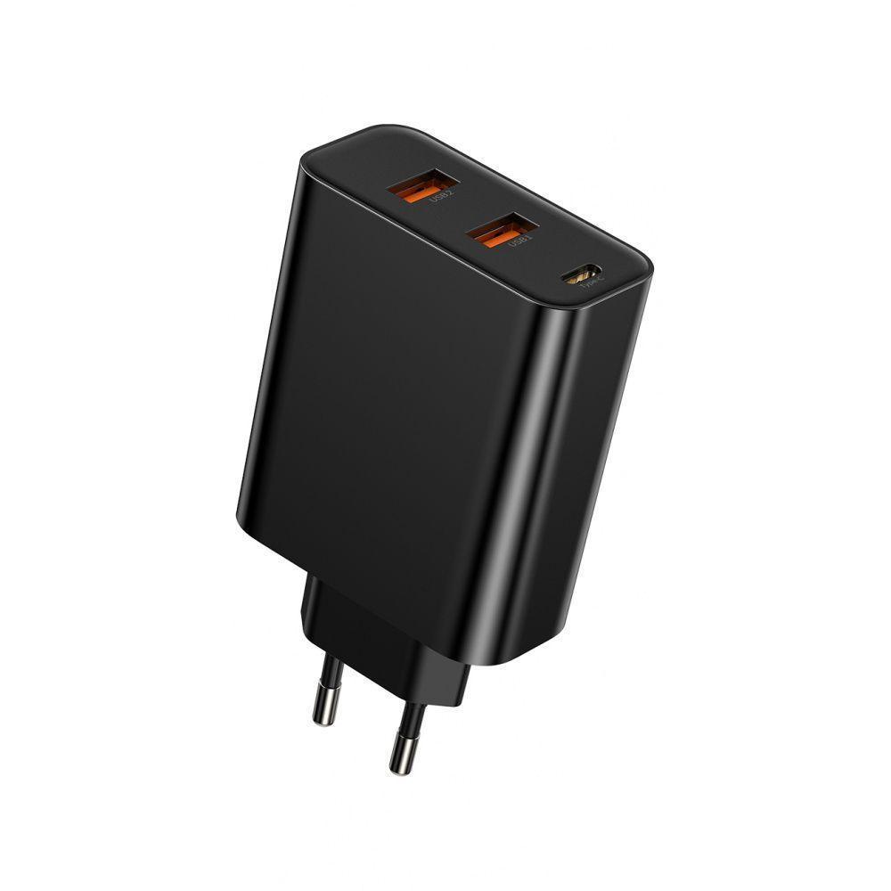 СЗУ Baseus PPS Three Output Quick Charger 60W (Type-C+2USB) black