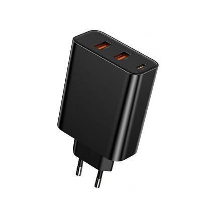 СЗУ Baseus PPS Three Output Quick Charger 60W (Type-C+2USB) black, фото 2