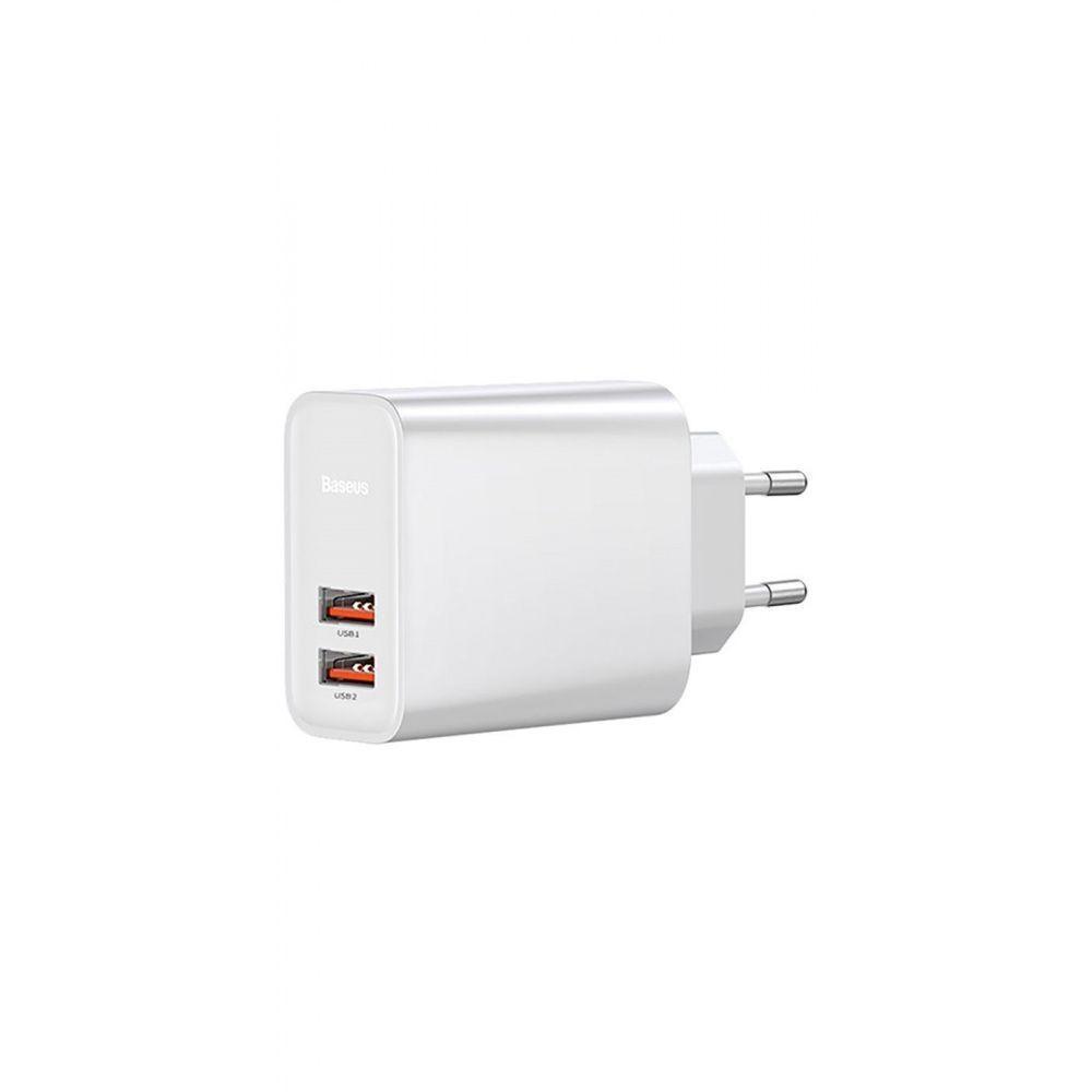 СЗУ Baseus Speed Dual QC3.0 30W 2USB white