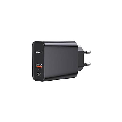 СЗУ Baseus Speed PPS 30W Type-C + USB black, фото 2