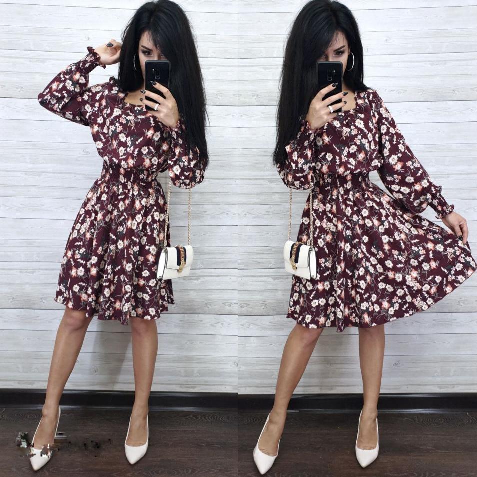 Елегантне плаття міді в квіточку АМ2481