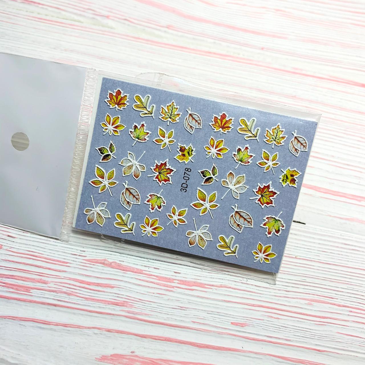 Слайдер-дизайн ОСІНЬ для нігтів ANGEVI 3Dslider 078