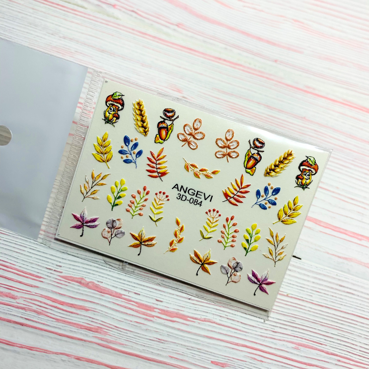 Слайдер-дизайн ОСЕНЬ для ногтей ANGEVI 3Dslider 084