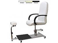 Кресло для педикюра регулировкой высоты подставкой пуф для ног на станине педикюрные для салона SPA-100