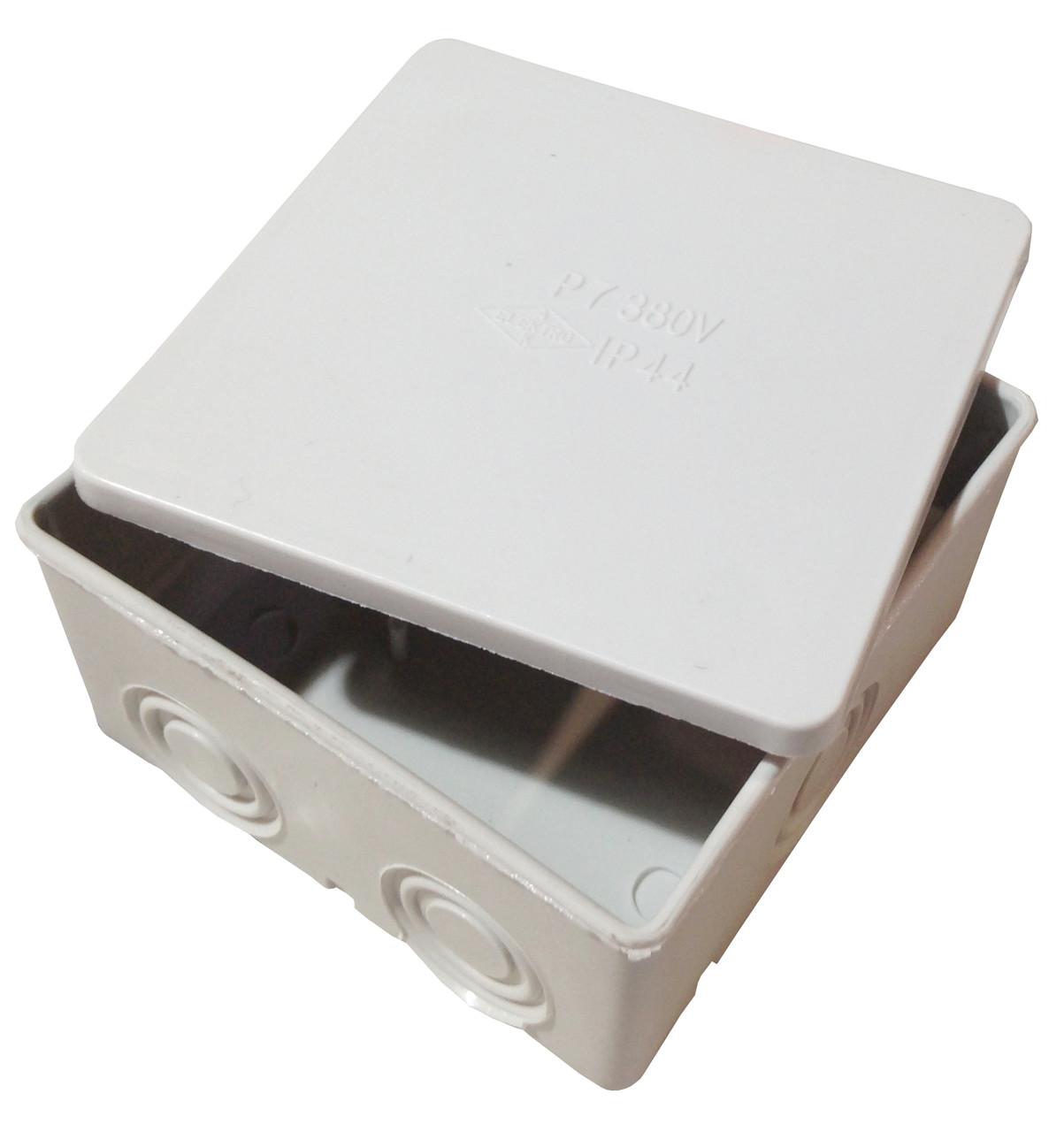 Коробка розподільча Р7 без клеми з можливістю встановки з'єднання єднувальних клем та герм. 95х95х60мм IP41