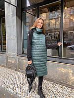 Женское удлиненное осеннее пальто на синтепоне, фото 1