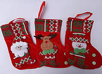 Рождественский носок. Сапожок на елку . Носок для подарков, фото 1