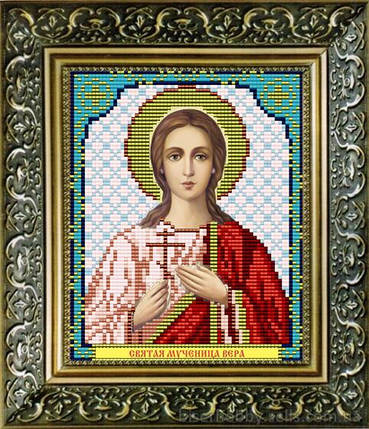 """Рисунок на ткани для вышивания бисером """"Святая Мученица Вера"""", фото 2"""