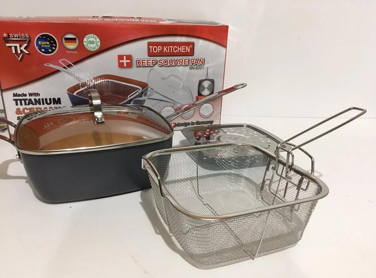 Сковородка-фритюрница с крышкой + пароварка Top  KITCHEN BN-8001