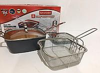 Сковорідка-фритюрниця з кришкою + пароварка Top KITCHEN BN-8001, фото 1