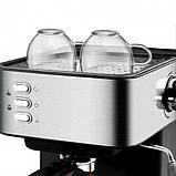 Кофемашина полуавтоматическая 850W с капучинатором DSP Espresso Coffee Maker, фото 3