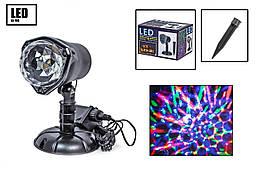 Лазерний проектор X-Laser для вулиці і вдома новорічний Мультиколор