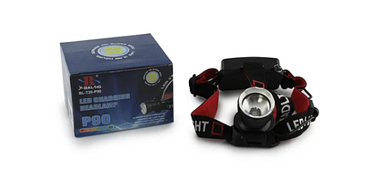 Потужний налобний ліхтарик Bailong BL-T20 - P90 2 акумулятора 17600, фото 3