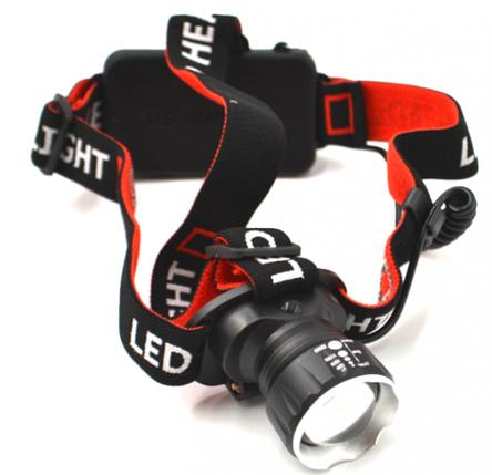 Потужний налобний ліхтарик Bailong BL-T20 - P90 2 акумулятора 17600, фото 2