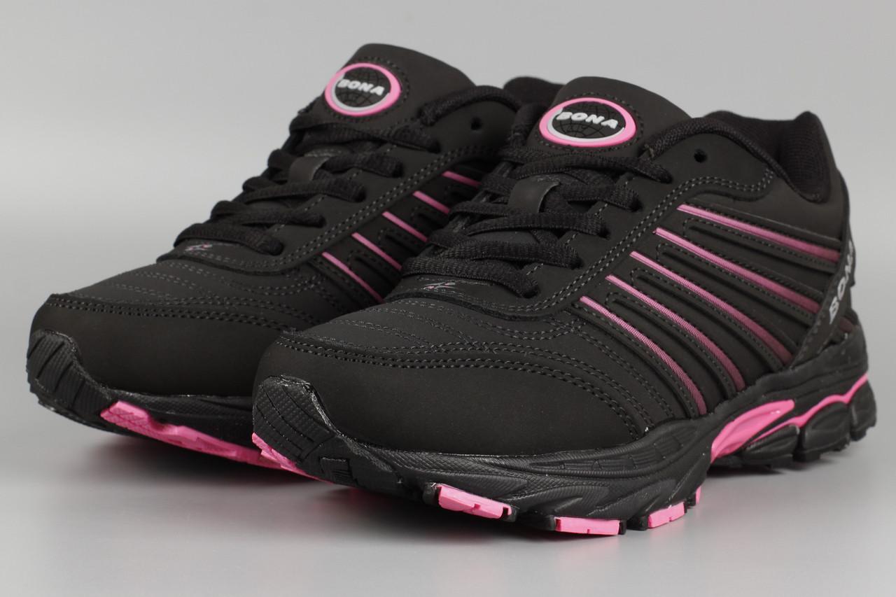 Кросівки унісекс жіночі чорні Bona 659S-2 Бона Розміри 36 37