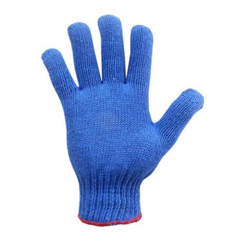 """Перчатки трикотажные, 7 кл., 74 гр., р.10"""", цвет синий, арт.760"""