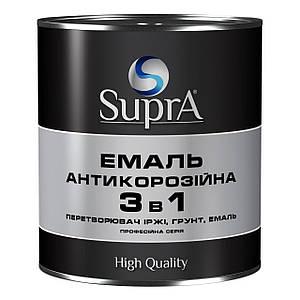 Эмаль-грунт антикор. алкид. 3в1 коричневая 0,8кг Янтарь