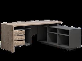 Комп'ютерний стіл Connect 1 1900х786х1638 мм дуб сонома трюфель + антрацит