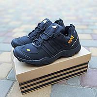 Чоловічі зимові кросівки Adidas Terrex Swift 465 чорний репліка, фото 1