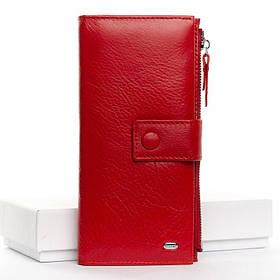 Кожаный кошелек DR. BOND WMB-1 red