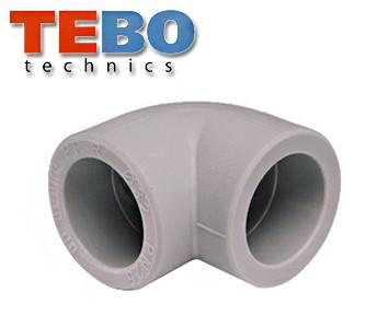 Угол TEBO 32х90° полипропиленовый