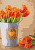 "Картина по номерам. Букеты, натюрморты ""Праздник любви"" KHO2940, 35х50 см"